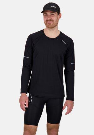 AERO - Long sleeved top - black/silver reflective