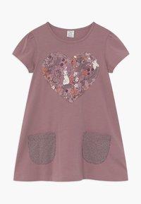 Lindex - MINI LONGSWEET PATCH - Žerzejové šaty - dusty lilac - 0