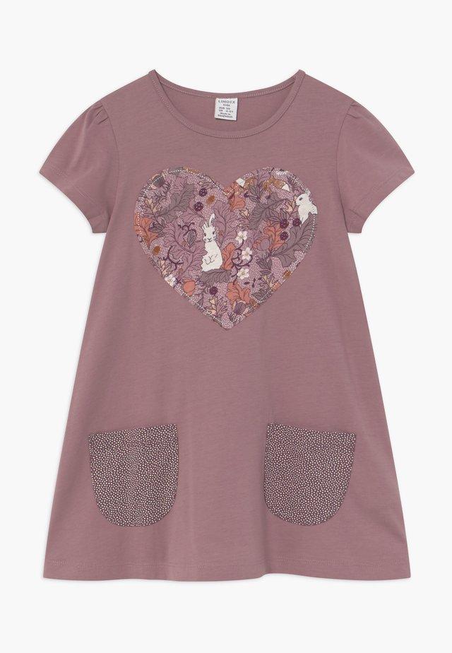 MINI LONGSWEET PATCH - Vestito di maglina - dusty lilac