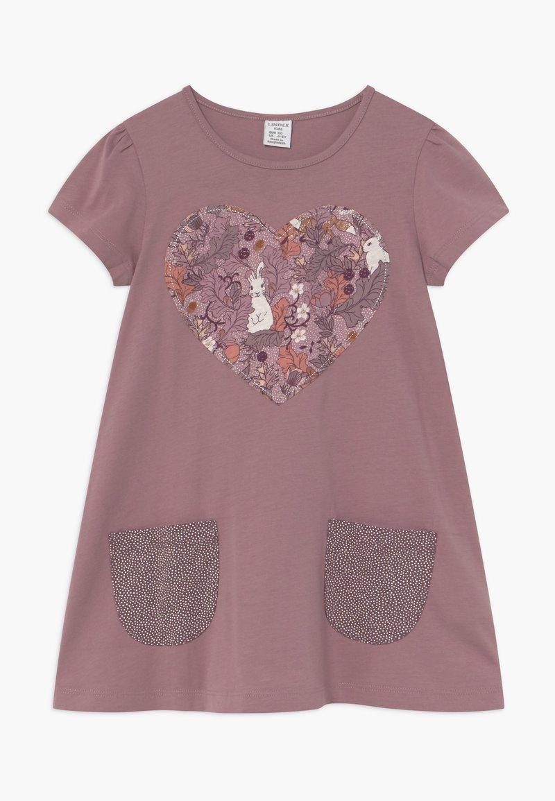 Lindex - MINI LONGSWEET PATCH - Žerzejové šaty - dusty lilac