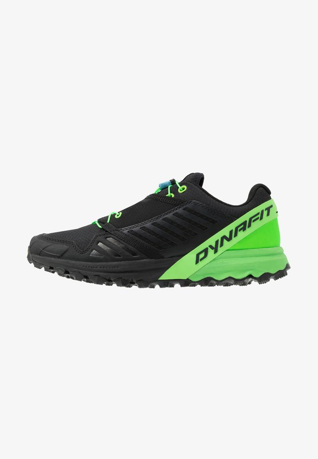 ALPINE PRO - Trail running shoes - black/dna green