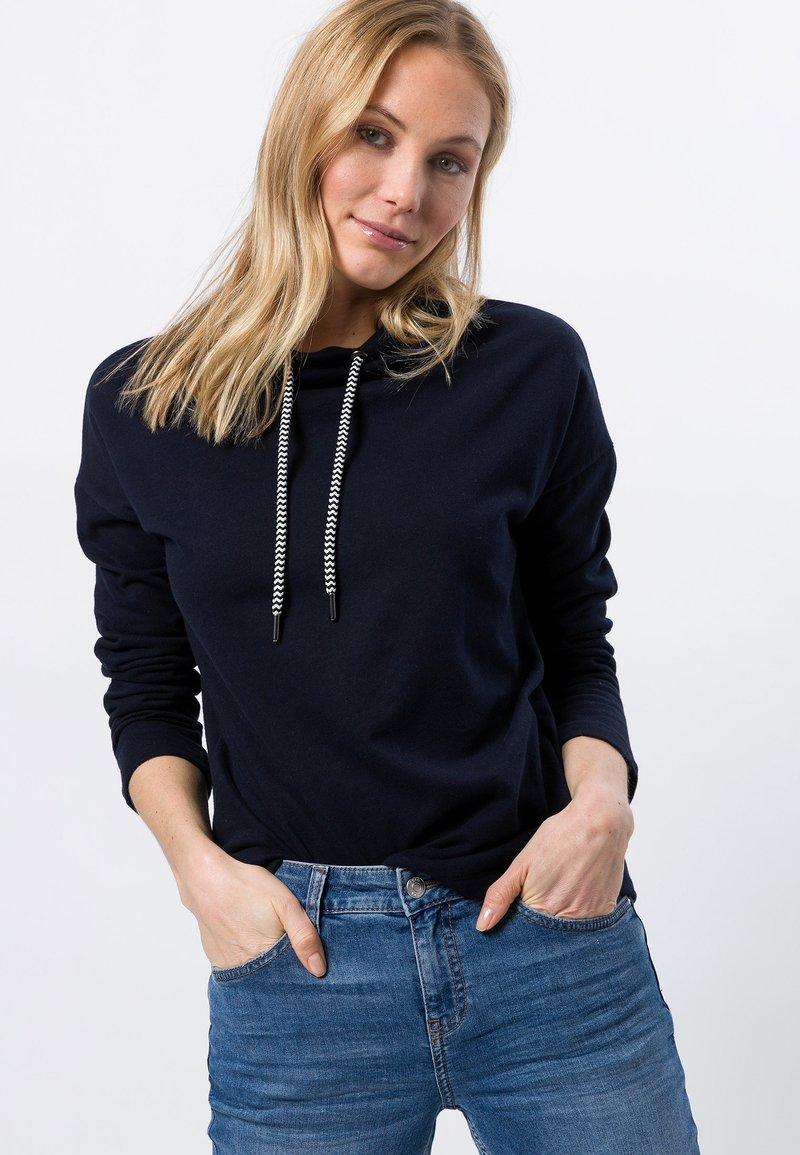 zero - MIT STEHKRAGEN - Sweatshirt - dark blue