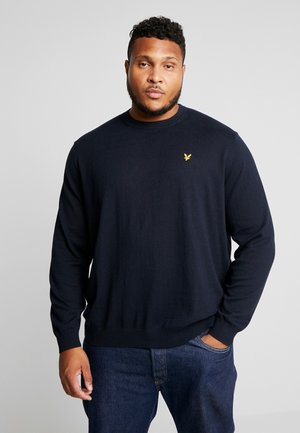 PLUS CREW NECK JUMPER - Jumper - dark navy