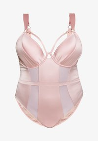 Playful Promises - FELICITY HAYWARD RETRO SEAMS PADDED SUIT - Body - pink - 4