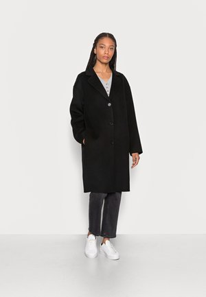 REAL DOUBLE FACE WORKMANSHIP SINGLE BREASTED - Classic coat - black