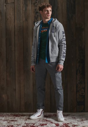 Zip-up hoodie - soft grey marl