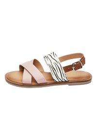 Next - PINK/ ZEBRA CROSS STRAP SANDALS (OLDER) - Sandals - pink - 0