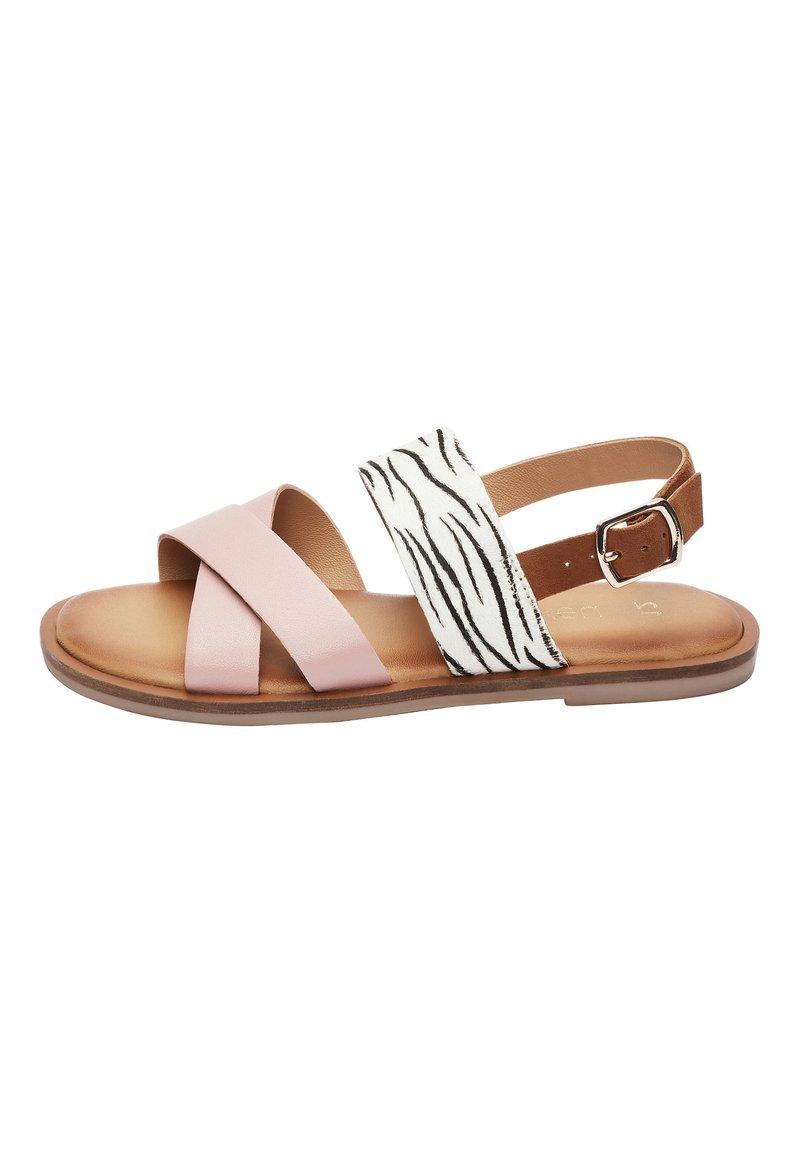 Next - PINK/ ZEBRA CROSS STRAP SANDALS (OLDER) - Sandals - pink