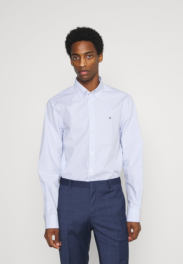 WIDE STRIPE SLIM FIT - Shirt - light blue/white