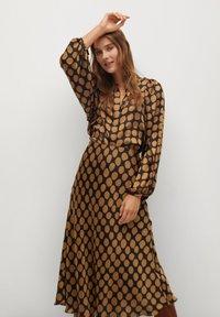 Mango - SABI - A-line skirt - karamell - 4