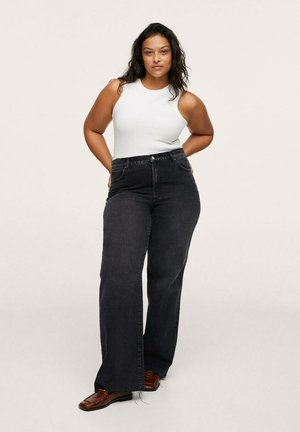 NORA - Relaxed fit jeans - black denim