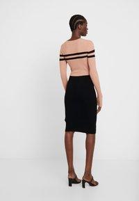 Anna Field - Vestido de tubo - black/beige - 2