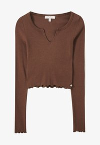 PULL&BEAR - Long sleeved top - dark brown - 5