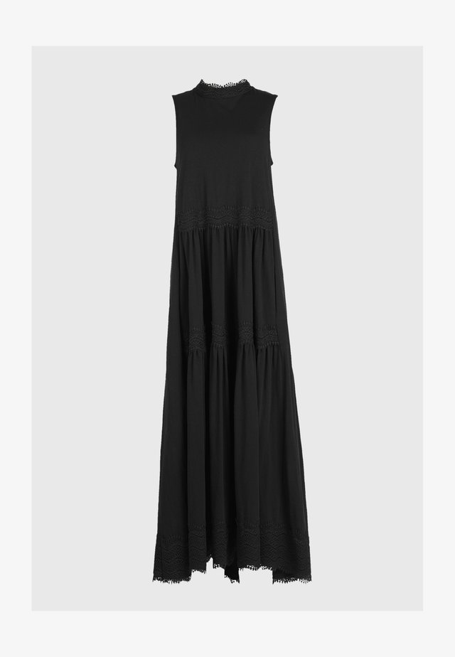 TIER DRESS - Maxi dress - black