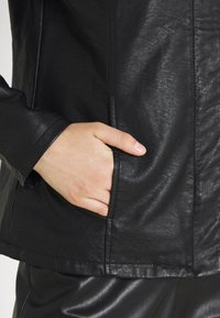 ONLY - ONLSEDONA - Faux leather jacket - black - 4