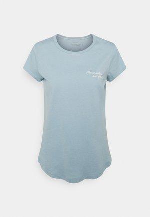 SHORT SLEEVE LOGO TEE - T-shirts med print - blue