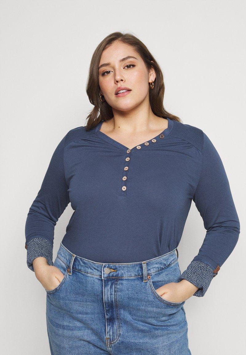 Ragwear Plus - PINCH SOLID PLUS - Top sdlouhým rukávem - blue