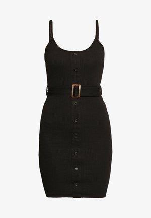 BELTED CAMI DRESS - Hverdagskjoler - black