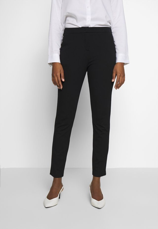 PANTS PUNTO DI ROMA - Trousers - deep black