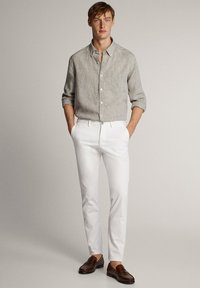 Massimo Dutti - Shirt - light grey - 1