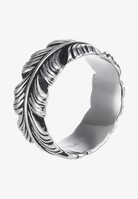 Nialaya - FEATHER WITH VINTAGE FINISH - Anello - silver-coloured - 3