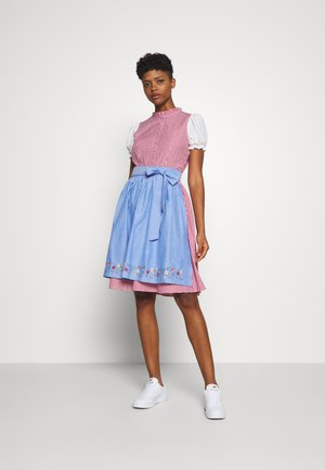 ONLELLY CHECK  DRESS - Dirndl - cloud dancer/red
