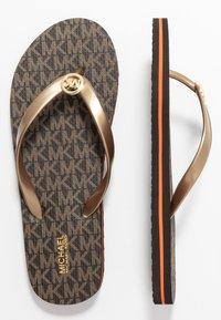 MICHAEL Michael Kors - STRIPE EVA - T-bar sandals - brown - 1