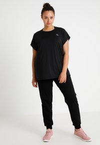 Active by Zizzi - ABASIC ONE - T-shirts - black - 1
