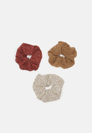 PCIMKE 3 PACK OVERSIZED SCRUNCHIE - Hair styling accessory - red/clay/brown