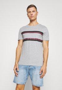 Pier One - Print T-shirt - mottled grey - 0
