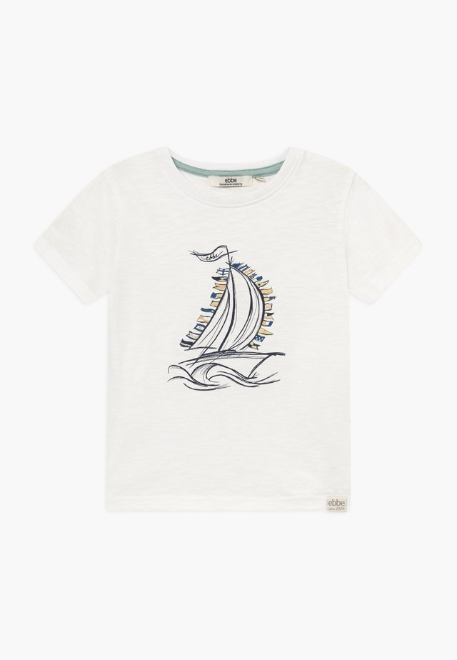 HUNTER TEE - Printtipaita - soft white