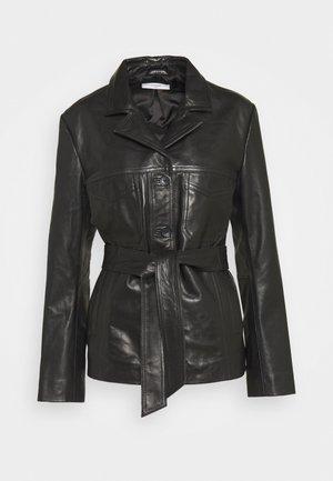 OLLIE - Kožená bunda - black