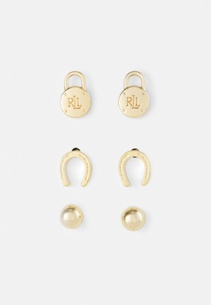EXCLUSIVE PE POST CHARM 3 PACK - Earrings - gold-coloured