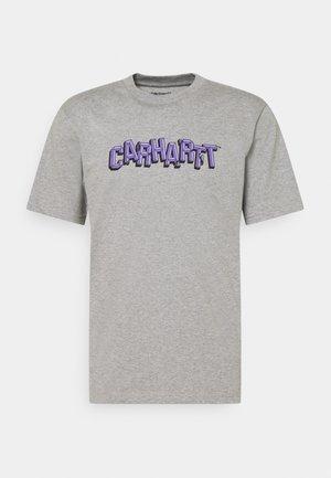 SHATTERED SCRIPT - Printtipaita - grey heather