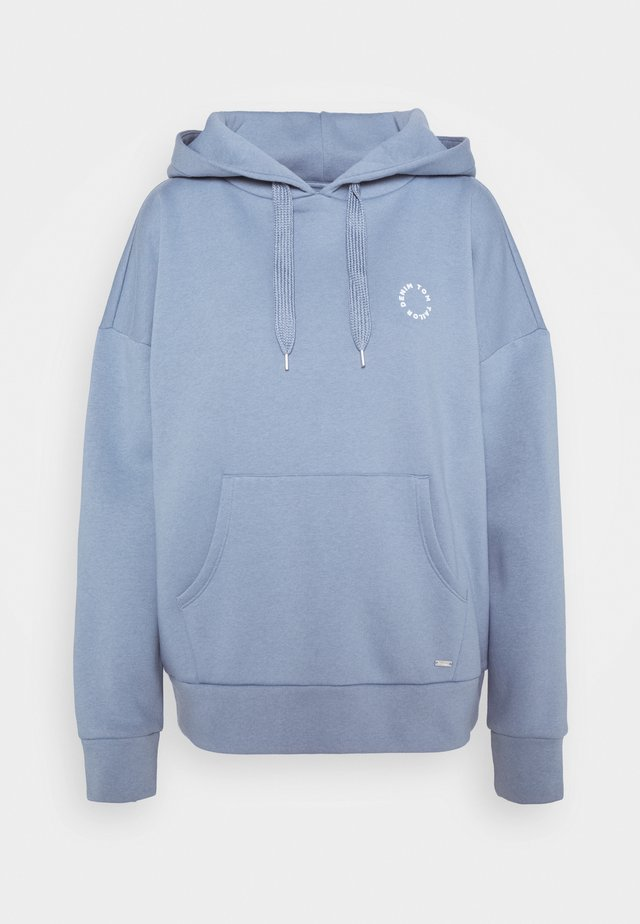 BOLD WORDING HOODY - Sweater - soft mid blue