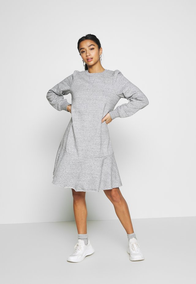 Korte jurk - light heather grey