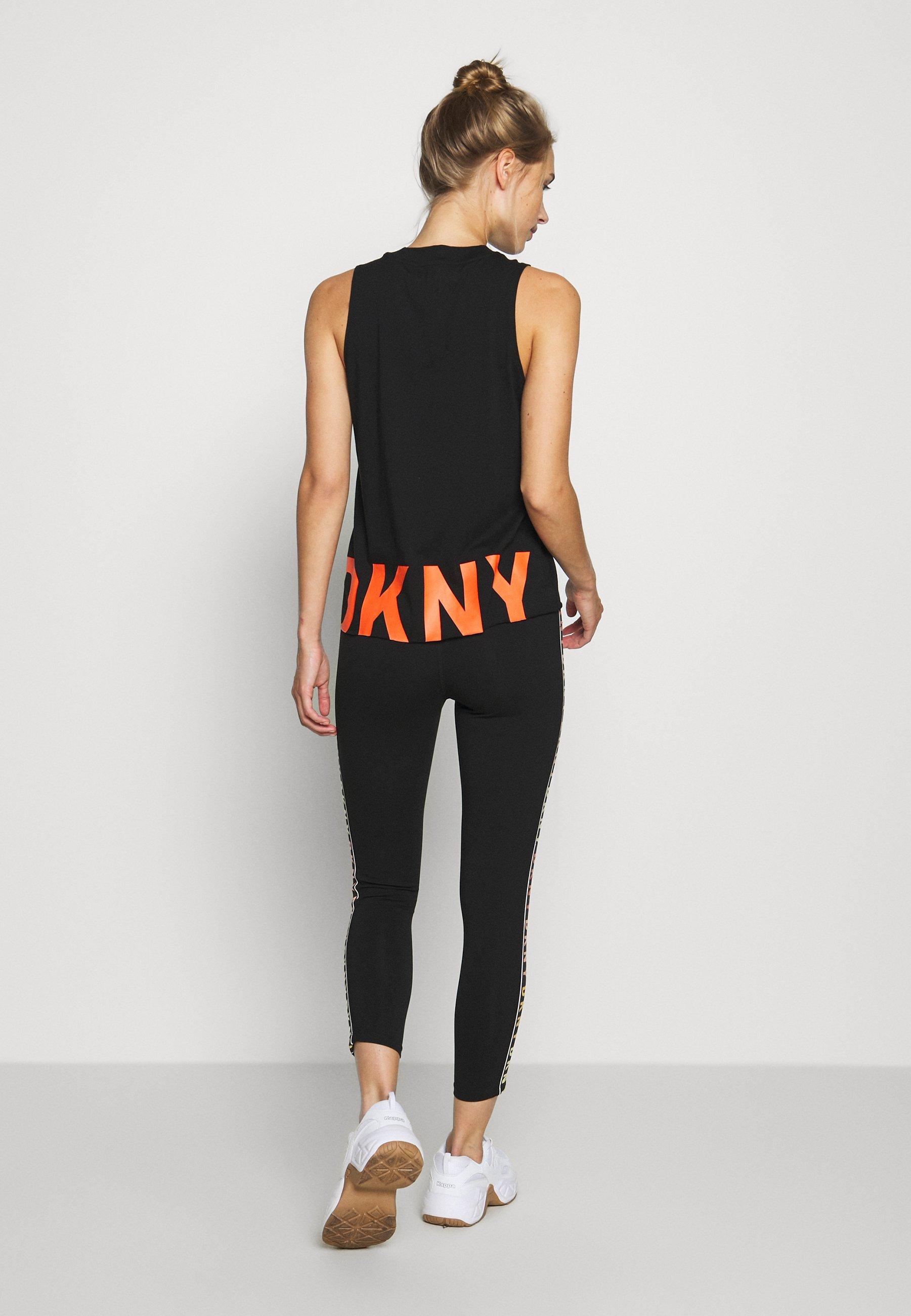 DKNY HIGH WAIST 7/8 LEGGING LOGO WEBBED TAPE - Leggings - vermillion vY0nZ