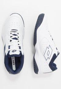 Lotto - SPACE 600 II - Zapatillas de tenis para todas las superficies - all white/navy blue - 1