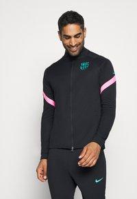 Nike Performance - FC BARCELONA DRY SUIT - Club wear - black/black/pink beam/new green - 0