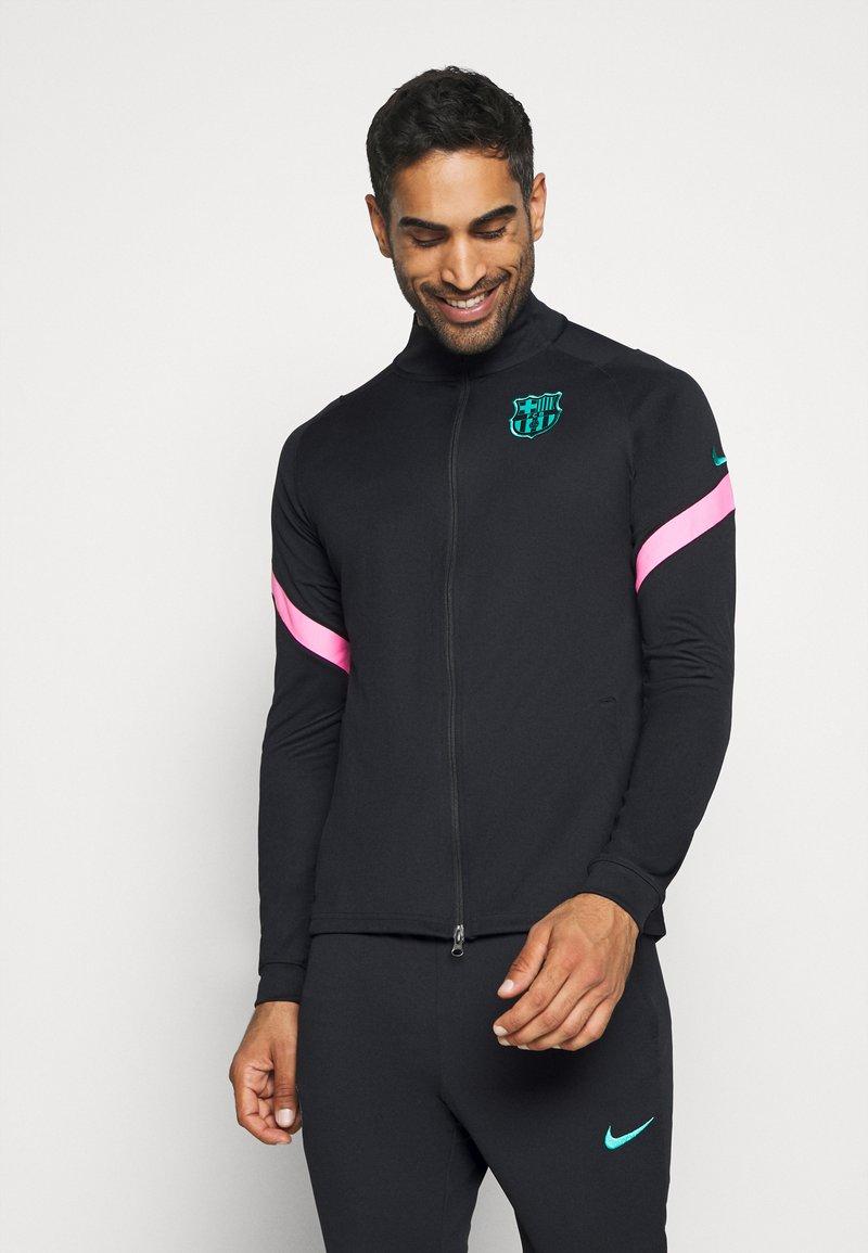 Nike Performance - FC BARCELONA DRY SUIT - Club wear - black/black/pink beam/new green