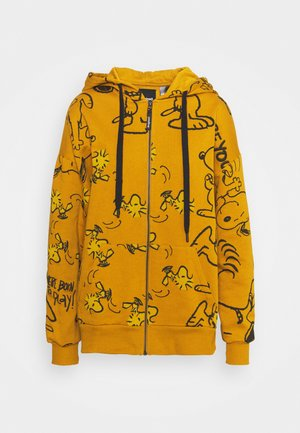 SNOOPY HOODY - Zip-up hoodie - mustrard yellow