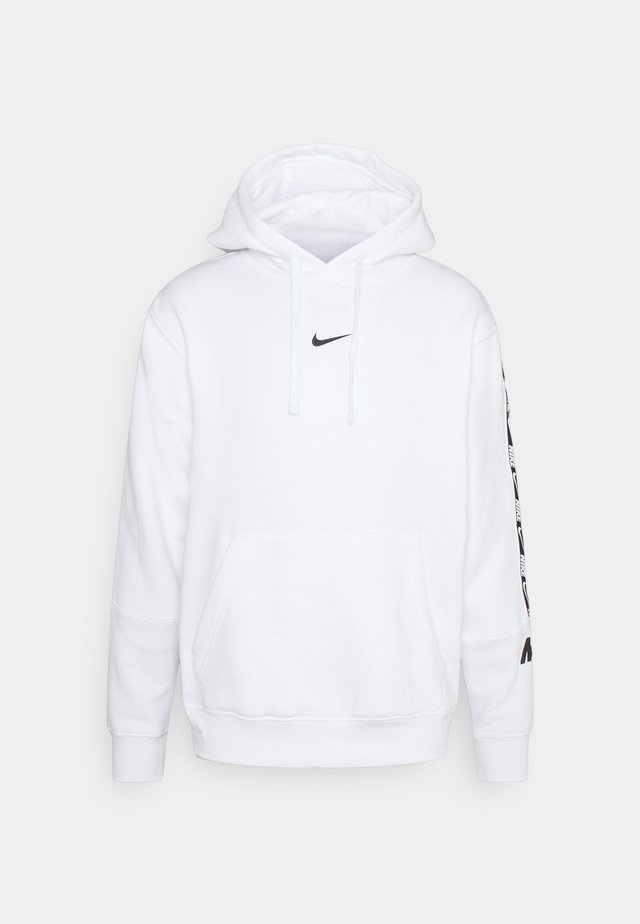 REPEAT HOODIE  - Sweat à capuche - white/black