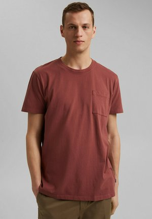 T-shirt basic - berry red