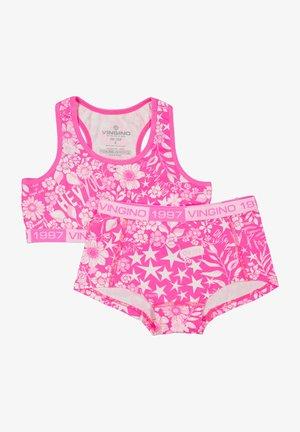 Underwear set - neon pink