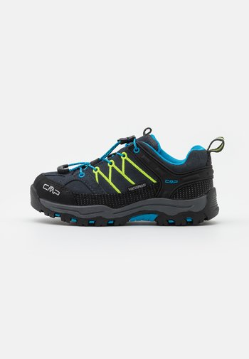 KIDS RIGEL LOW TREKKING SHOES WP - Hiking shoes - antracite/yellow fluo