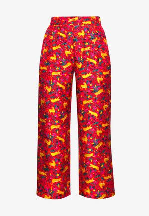 CERISE CAT PANT - Trousers - red