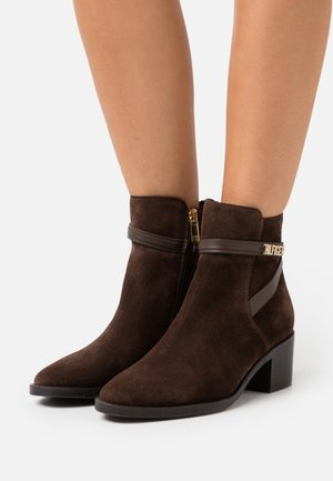 BLOCK BRANDING MID BOOT - Bottines - cocoa