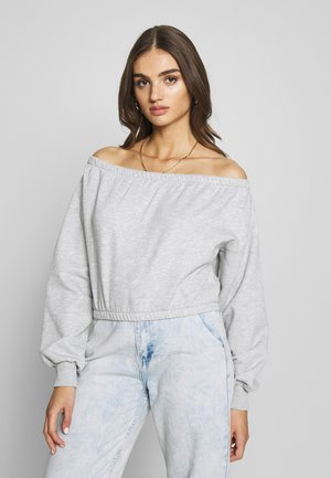 OFF SHOULDER - Sweatshirts - grey melange