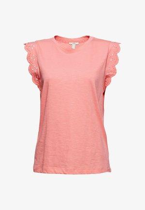 ANGLAIS - T-shirt imprimé - coral