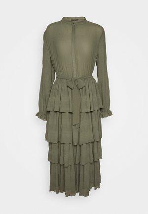 JUSTINA SANA DRESS - Abito a camicia - olive green